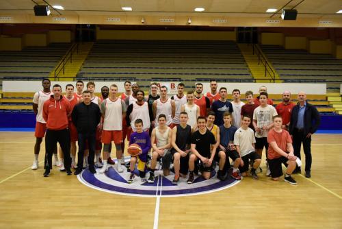 Közös edzés a Szolnoki Kosárlabda Akadémia U16-os csapatával